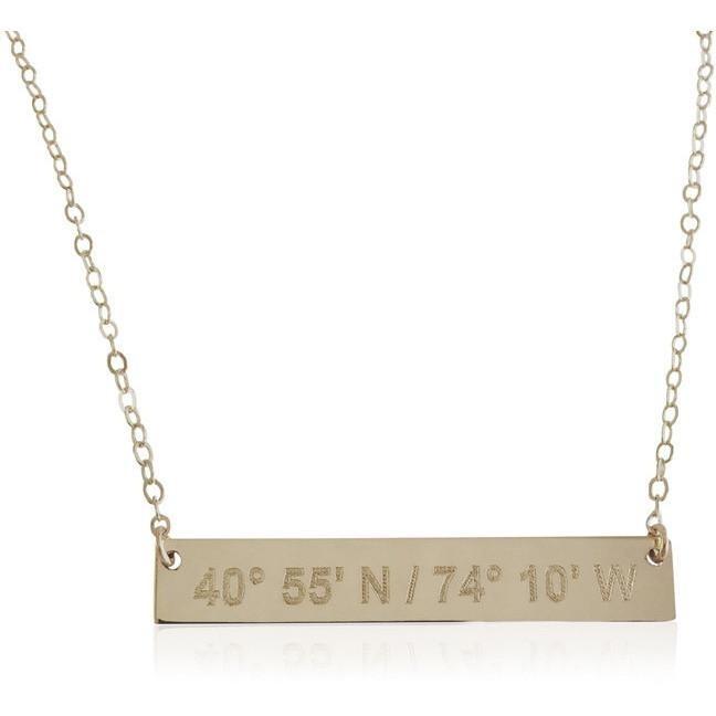 Catalina Lat Lo Bar 14k Necklace