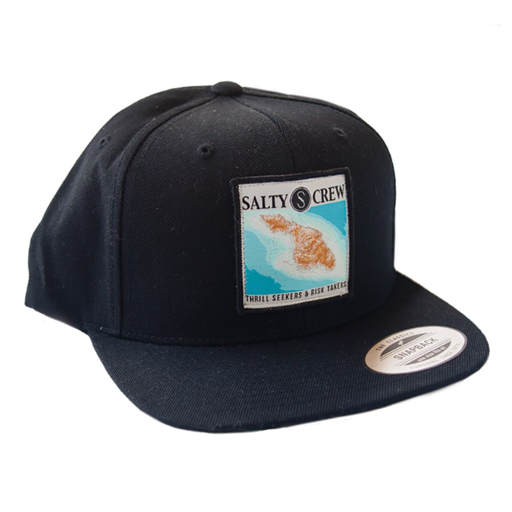 15bde8035eb Catalina Salty Crew Cap - Black - Hats - Men