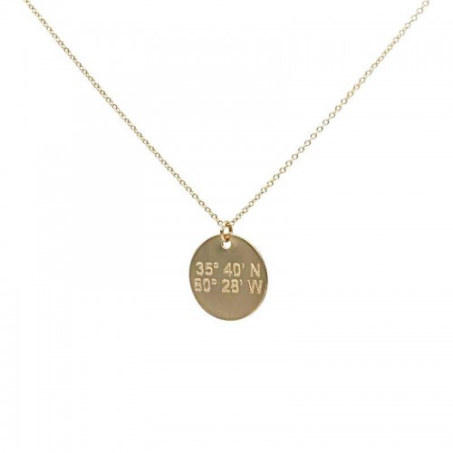 Catalina Lat Lo Disc 14k Necklace