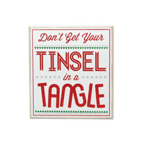 Tinsel Tangle Sign