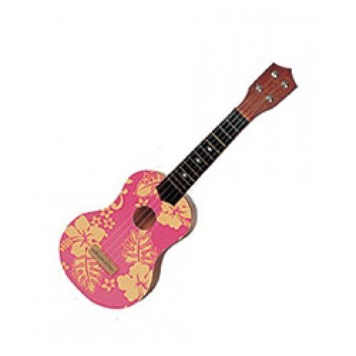 """Pink Floral Ukulele 21"""""""