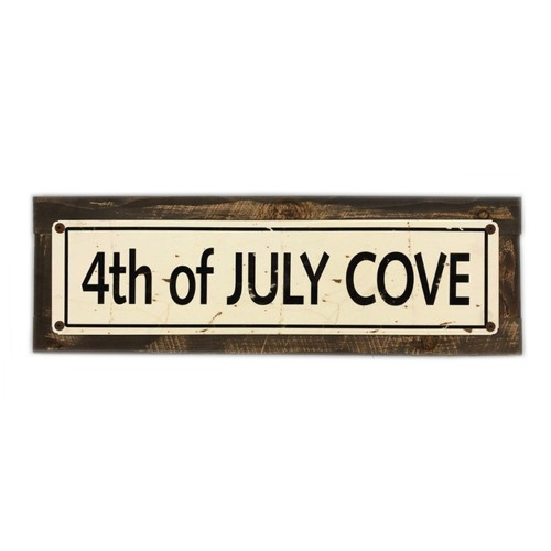 """4th of July Cove - 5 x 20"""" Wood Sign"""