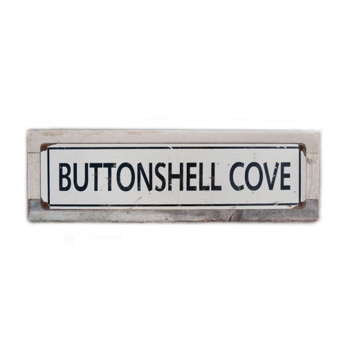 """Buttonshell Cove - 5 x 20"""" Wood Sign"""