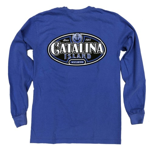 Catalina Island Long Sleeve T-Shirt - Blue