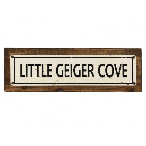 Little Geiger Cove Wood Sign