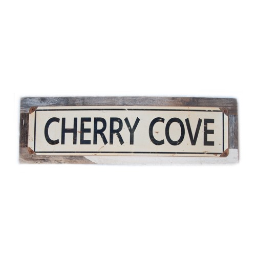 "Cherry Cove - 5 x 20"" Wood Sign"