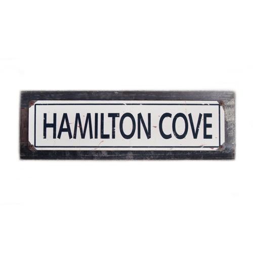 "Hamilton Cove - 5 x 20"" Wood Sign"