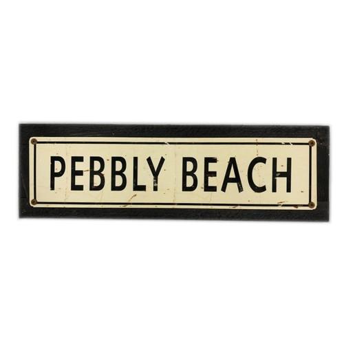 "Pebbly Beach - 5 x 20"" Wood Sign"