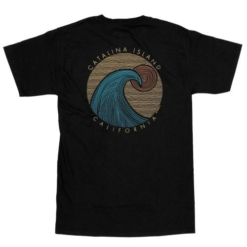 Wave Cut Catalina T-Shirt - Black