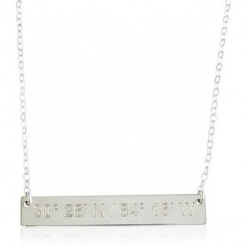 Catalina Lat Lo Bar SS Necklace